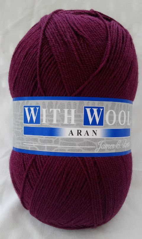 James Brett Aran with wool 400g